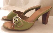 COACH GREEN LEATHER SHOES  SIZE 8 B MADE IN ITALY