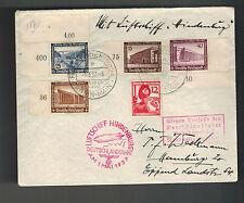 1937 Frankfurt Germany Hindenburg LZ 129 Zeppelin Cover to USA Flight Canceled