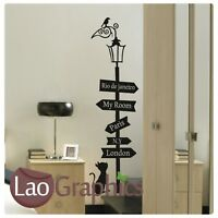 House Cat Travel Sign Cute Wall Art Sticker Large Vinyl Transfer Graphic Decal
