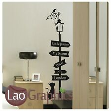 New listingHouse Cat Travel Sign Cute Wall Art Sticker Large Vinyl Transfer Graphic Decal