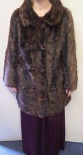 Vintage Genuine Mid Brown European Mink Fur long coat L UK 14/16 Euro 42-44