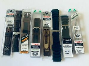 7 Timex Watchbands New old Stock Outdoor Ironman Fast Wrap Casio Spring Bars