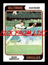 1974 Topps 8-239 EX/EX-MT Pick From List All PICTURED