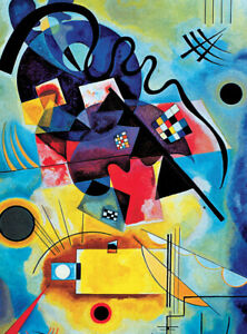 """NEW! RARE 850 Piece Puzzle """"YELLOW-RED-BLUE, 1925"""" Kandinsky Fine Art Puzzle"""