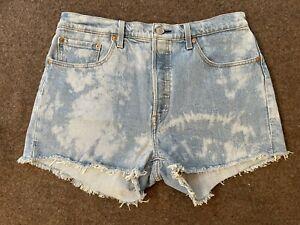 Levis 501 Cut Off Shorts Acid Wash 32