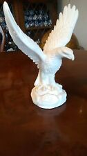 Vintage Alabaster Eagle Sculpture  A Giannelli