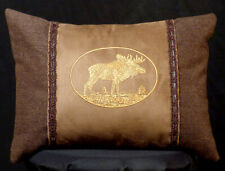 New Embroidered Brown Great Horned Owl Pillow New 12 x 16 — Item 290