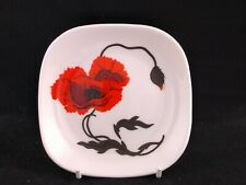Wedgwood Corn Poppy  square pin dish (a Susie Cooper design)