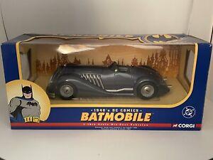 RARE! NEW IN BOX Corgi Batmobile 1940s 1:18 Scale Die Cast DC Comics (READ)