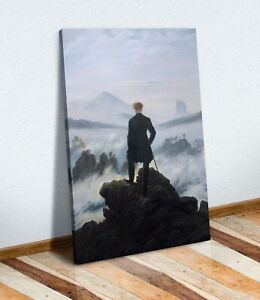 CANVAS WALL ART PRINT ARTWORK 30MM DEEP FRAME Caspar David Friedrich Wanderer
