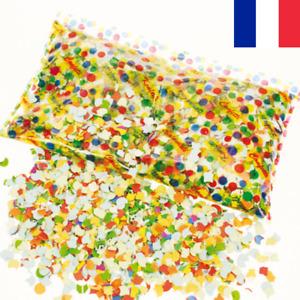 Sachet de 100G Confettis Multicolores Mariage Fête Baptême Réveillon Party