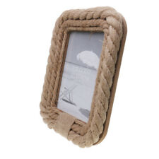 """Rustic Wooden Burlap Rope Photo Picture Frame Home Decoration 5 x 7"""""""