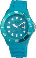 Just Herrenuhr Blau Analog Datum Kunststoff Silikon Armbanduhr X-JU20131-006