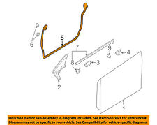 SUBARU OEM 00-04 Outback Front Door-Weatherstrip Seal Left 63511AE03A