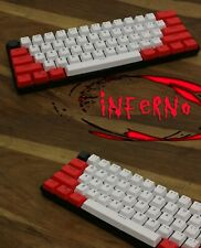 61 Key PBT Thick 60% Keycaps Inferno ANSI Layout for Mechanical Keyboard Backlit