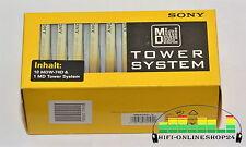 #M34 - 10 Stück neue Minidisc, MD 's von Sony Minidisk leer 74min mit Tower