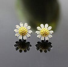 Ohrstecker Ohrring Blume Blümchen Margerite Sterling Silber 925