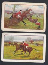 #200.010 vintage swap card -FAIR pair- Runaway horse & Rider comes off
