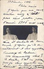 Photo carte 1905 New-York women french identifiée Françoise à Brevard Chambéry