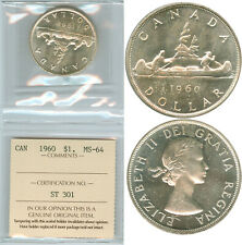 1 Dollar 1960 MS64 graded by ICCS