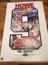 AUTO SIGNED GORDIE HOWE MR. HOCKEY MARK & MARTY ART WORK 27 X 18 POSTER