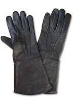 Handschuhe Echt - Leder LARP Mittelalter Lederhandschuhe schwarz S M L XL