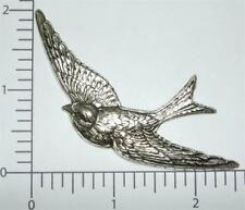 35764         Matte Silver Oxidized Large Flying Bird Brass Jewelry Finding