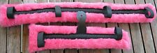 Miniature Mini Horse Donkey Harness Driving Pads Cart Carriage Fleece Pink