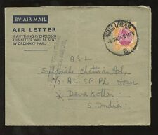 MALAYA 1954 LIBERATION WAR BOARDER FRONT CENSOR...AIRLETTER to INDIA