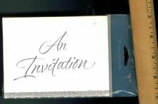 """""""An Invitation"""" Generic Party 10 Pack Birthday Wedding Formal Silver Off White"""