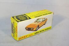 DINKY TOYS 011454 1454 SIMCA MATRA BAGHEERA EMPTY BOX NEAR MINT RARE SELTEN