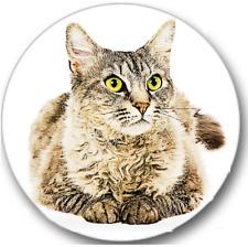 LaPerm Cat Sticker Seals No.122, 12 round stickers, vet nurse stickers
