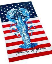 NWT Tommy Hilfiger Rock Lobster  Beach Pool Logo Towel  35 x 66 100% Cotton NEW