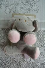 "Nwt Kelly Baby Gray Pink Elephant Plush Rattle Lovey Cuddle Crinkle Toy 7"" Soft"