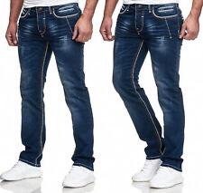Herren Jeans Hose Denim-Black Washed Straight Cut Regular Stretch BLACKROCK 8195