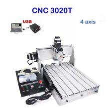4-assi USB Cnc Fresatrice verticale incisore incisione CUTTER 3020t PORTA 3D
