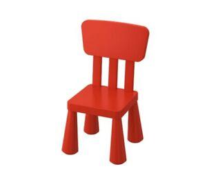 MAMMUT Children's chair, indoor/outdoor/Red NEW