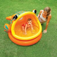 Fish Lazy Inflatable Baby Kids Swimming Pool Summer Outdoor Water Play Fun Intex