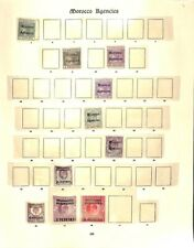 [OP3643] Morocco Agencies lot of stamps on 4 pages