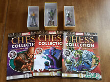 Eaglemoss Marvel Chess Collection Issues #10, 11, 12 (Cage, Lizard, Kang)