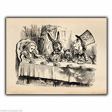 Alice's Adventures MAD HATTER'S TEA PARTY A5 METAL SIGN WALL PLAQUE print