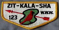 MERGED ZIT-KALA-SHA OA LODGE 123 OLD KENTUCKY HOME PATCH 65 YELLOW SERVICE FLAP