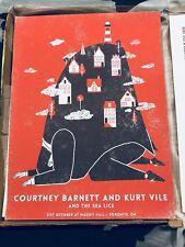 COURTNEY BARNETT KURT VILE original Concert Poster Toronto Oct 31 2017