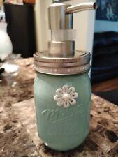 Decorated Mason Jar Soap Dispenser