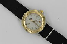 Tag Heuer Jumbo 155.706 GMT Gold 24 Hour 1500 SS Watch Mens Mint Crystal NATO