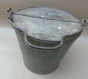 Vintage Soda bottle Metal Bucket Mobile vendor ICE CHEST travelling Customer