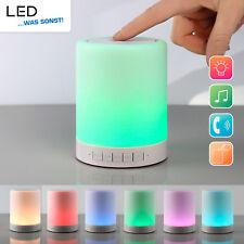 Tragbarer Mini Bluetooth Lautsprecher mit RGB und Warmweiß LED Lampe Micro SD