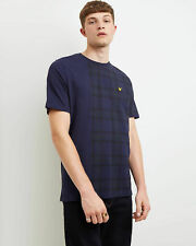 Lyle and Scott Men Block Check T-Shirt - Cotton