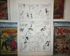 """Bunny 5 TEEN HUMOR HY EISMAN ART Pencil & Ink 14"""" x 23"""" Magician Teen Idol 1968"""