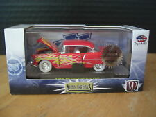 M2 Machines 1955 55 Chevrolet Bel Air Red Flames Hobby Super Chase 1/64 Diecast